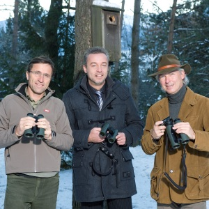 Josef Margreiter (Direktor Tirol Werbung), Johannes Davoras (Vorstand Swarovski Optik), Hermann Fercher (Marketing Swarovski Optik)
